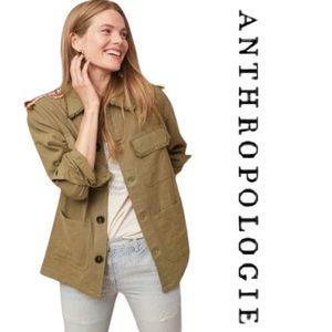 NWOT Anthropologie Utility Fringe Linen Jacket